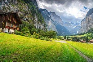 Lauterbrunnen village,Switzerland