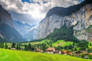 Spectacular Lauterbrunnen town