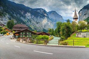 Amazing Lauterbrunnen town
