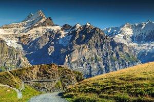 Stunning alpine panorama