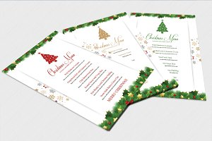 Christmas Menu Template-V448