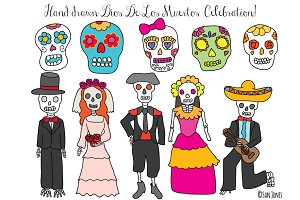 Hand Drawn Day of the Dead