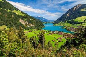 Lungernsee lake,Switzerland
