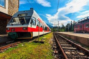 Passenger commuter electric train