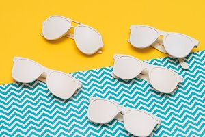 sunglasses of different shapes
