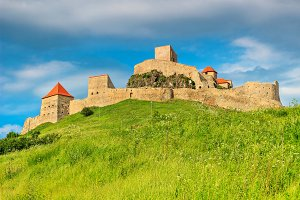 Rupea fortress on the hill,Romania