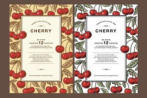Cherry ripe fruit food Card Frame