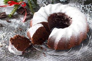 homemade chocolate cake Christmas