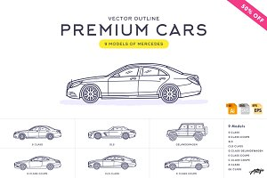 Premium Cars – Mercedes (Vector)