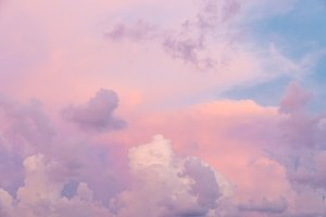 Colorful clouds on sunset sky