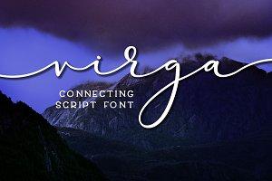 Virga - connecting script font