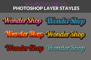 50 Misc. Photoshop Layer Style