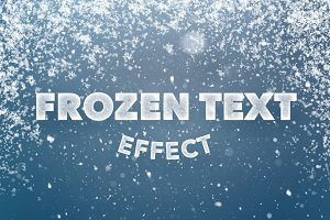 Frozen Text Effect for Photoshop