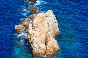 Rock near shore.