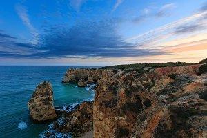 Evening Atlantic coastline, Portugal
