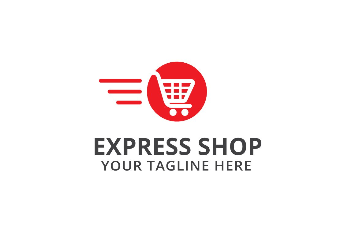 express shop logo template logo templates creative market. Black Bedroom Furniture Sets. Home Design Ideas