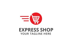 Express Shop Logo Template