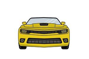 Chevrolet Camaro flat style