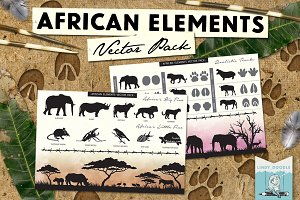 African Elements Vector Pack