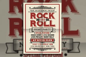 Vintage Rock and Roll Music Party