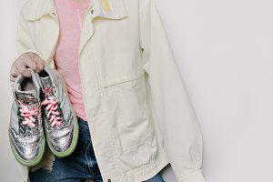 vintage sports jacket style Girl