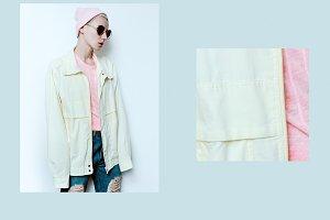 hipster model in vintage jackets