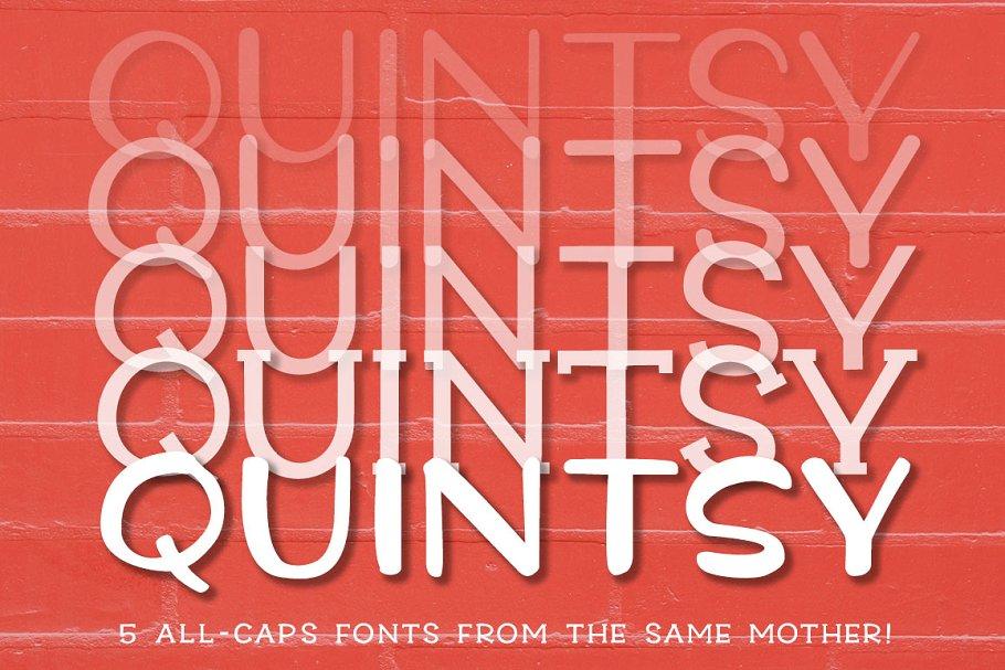 Quintsy - a five-font set! ~ Display Fonts ~ Creative Market