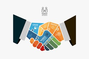Businessman Handshake Jigsaw