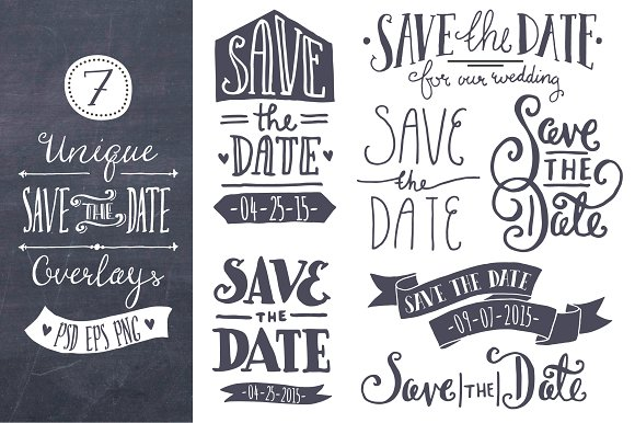 save the date overlays graphics creative market