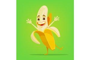 Happy banana character
