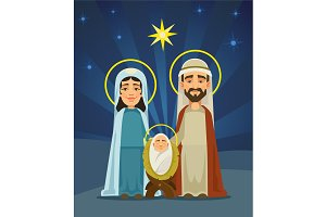 Nativity scene. Holy family
