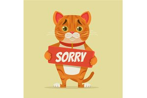 Sorry cat character