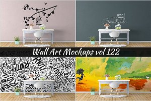 Wall Mockup - Sticker Mockup Vol 122