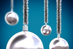 xmas balls hanging