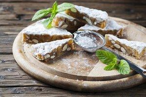Traditional italian dessert panforte