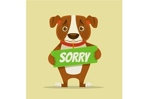 Sorry dog character