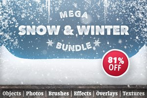 Snow & Winter Bundle - SALE 81% OFF
