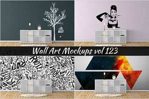 Wall Mockup - Sticker Mockup Vol 123