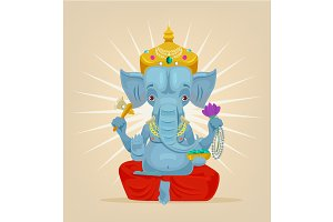 lord Ganesh elephant character
