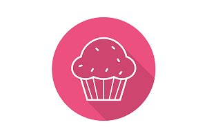 Muffin icon. Vector