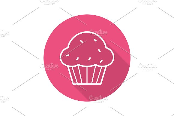Muffin icon. Vector - Icons