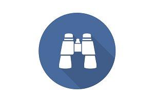 Binoculars icon. Vector