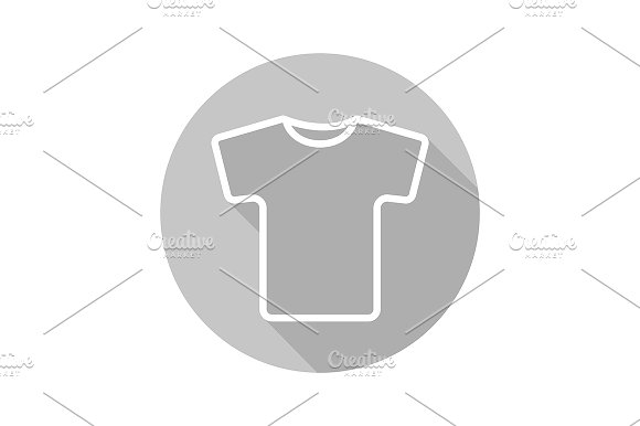 Grey t-shirt icon. Vector - Icons