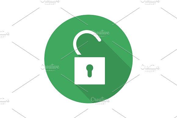 Open lock icon. Vector