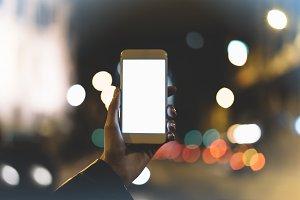 phone on background illumination