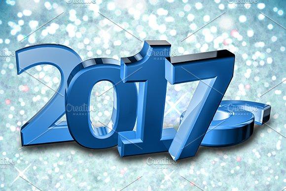 New year 2017, snowflake Background
