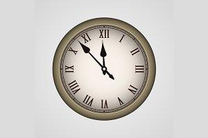 Vector realistic vintage clock