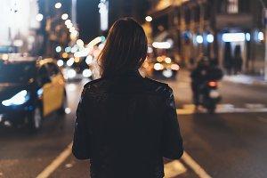 girl in street city