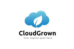 Cloud Grown Logo Template