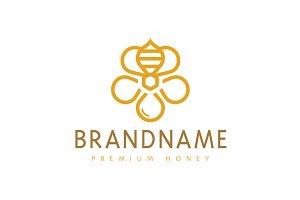 Honey Bee Bloom Logo